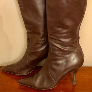 Banana Republic Brown Leather Tall Boots